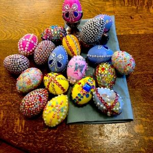 Group of Easter Egg Decorations